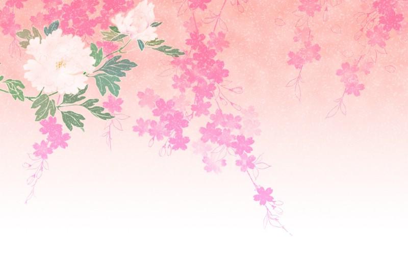 日本风格 甜美碎花图案图片