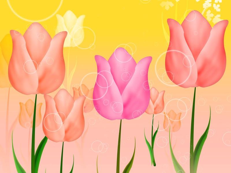 艺术风格花卉图案插画设计