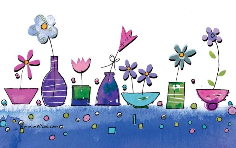 花卉图案设计 可爱花卉插画壁纸壁纸 艺术与抽象花卉壁纸壁纸 艺术与抽象花卉壁纸图片 艺术与抽象花卉壁纸素材 花卉壁纸 花卉图库 花卉图片素材桌面壁纸