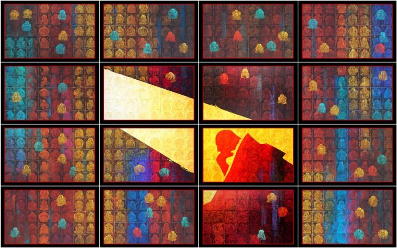 藏族祥巴版画 壁纸2壁纸 藏族祥巴版画壁纸 藏族祥巴版画图片 藏族祥巴版画素材 绘画壁纸 绘画图库 绘画图片素材桌面壁纸