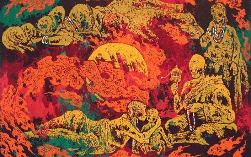 藏族祥巴版画 壁纸3壁纸 藏族祥巴版画壁纸 藏族祥巴版画图片 藏族祥巴版画素材 绘画壁纸 绘画图库 绘画图片素材桌面壁纸