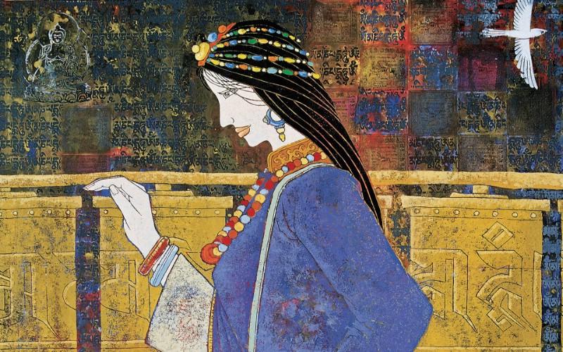 藏族祥巴版画 壁纸13壁纸 藏族祥巴版画壁纸 藏族祥巴版画图片 藏族祥巴版画素材 绘画壁纸 绘画图库 绘画图片素材桌面壁纸