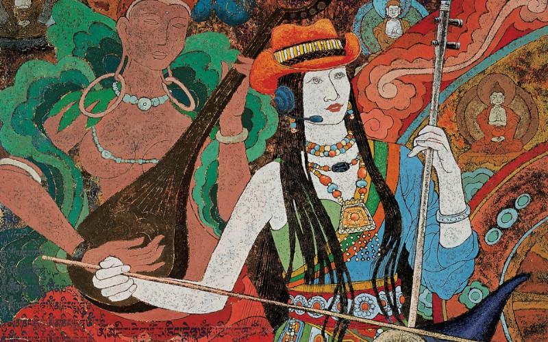 藏族祥巴版画 壁纸14壁纸 藏族祥巴版画壁纸 藏族祥巴版画图片 藏族祥巴版画素材 绘画壁纸 绘画图库 绘画图片素材桌面壁纸