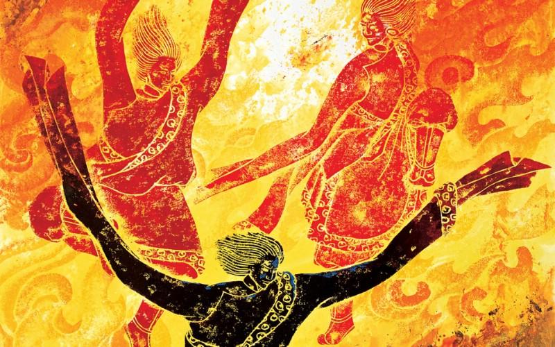 藏族祥巴版画 壁纸17壁纸 藏族祥巴版画壁纸 藏族祥巴版画图片 藏族祥巴版画素材 绘画壁纸 绘画图库 绘画图片素材桌面壁纸