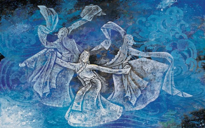 藏族祥巴版画 壁纸18壁纸 藏族祥巴版画壁纸 藏族祥巴版画图片 藏族祥巴版画素材 绘画壁纸 绘画图库 绘画图片素材桌面壁纸