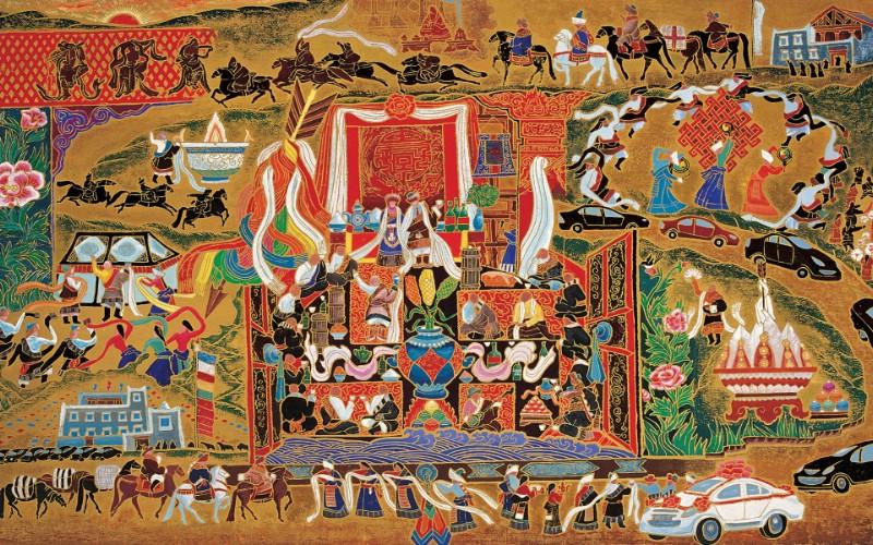 藏族祥巴版画 壁纸20壁纸 藏族祥巴版画壁纸 藏族祥巴版画图片 藏族祥巴版画素材 绘画壁纸 绘画图库 绘画图片素材桌面壁纸