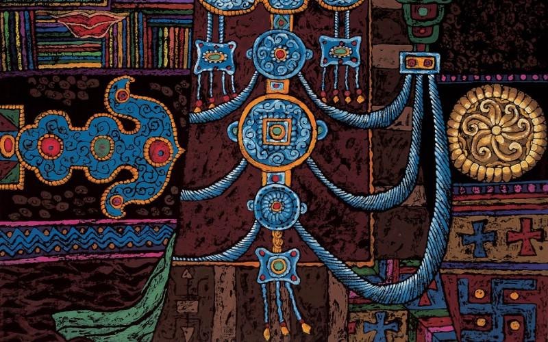 藏族祥巴版画 壁纸21壁纸 藏族祥巴版画壁纸 藏族祥巴版画图片 藏族祥巴版画素材 绘画壁纸 绘画图库 绘画图片素材桌面壁纸