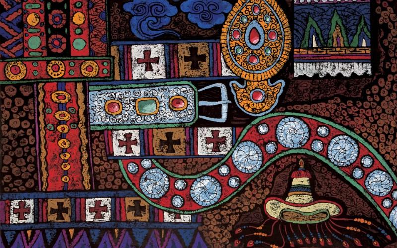 藏族祥巴版画 壁纸22壁纸 藏族祥巴版画壁纸 藏族祥巴版画图片 藏族祥巴版画素材 绘画壁纸 绘画图库 绘画图片素材桌面壁纸
