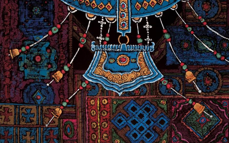 藏族祥巴版画 壁纸23壁纸 藏族祥巴版画壁纸 藏族祥巴版画图片 藏族祥巴版画素材 绘画壁纸 绘画图库 绘画图片素材桌面壁纸