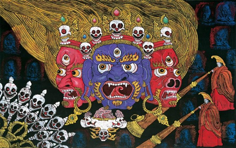藏族祥巴版画 壁纸25壁纸 藏族祥巴版画壁纸 藏族祥巴版画图片 藏族祥巴版画素材 绘画壁纸 绘画图库 绘画图片素材桌面壁纸