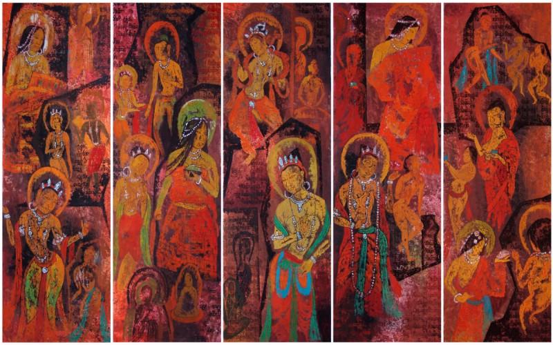 藏族祥巴版画 壁纸27壁纸 藏族祥巴版画壁纸 藏族祥巴版画图片 藏族祥巴版画素材 绘画壁纸 绘画图库 绘画图片素材桌面壁纸