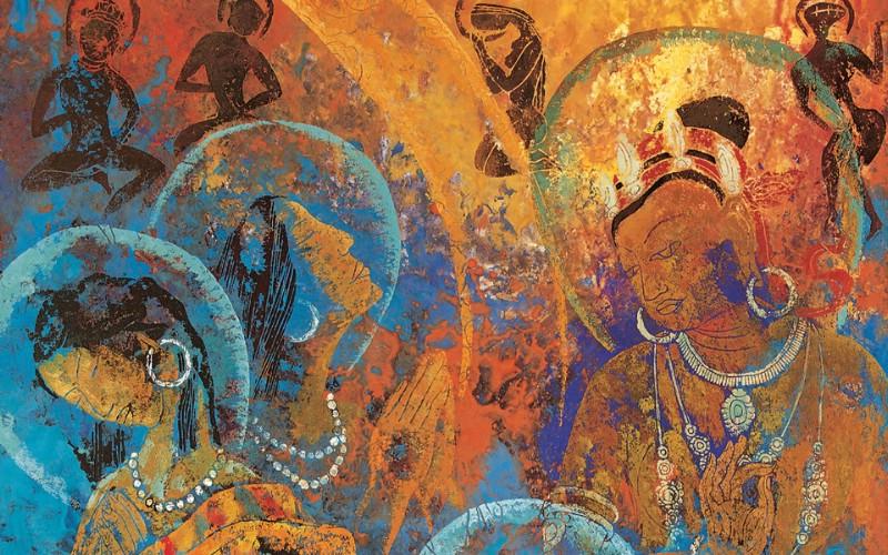 藏族祥巴版画 壁纸28壁纸 藏族祥巴版画壁纸 藏族祥巴版画图片 藏族祥巴版画素材 绘画壁纸 绘画图库 绘画图片素材桌面壁纸