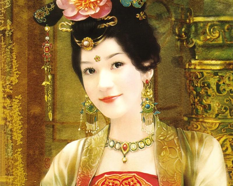 德珍绘画 古代女子绘画壁纸壁纸 德珍绘馆