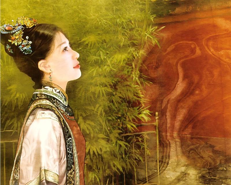 德珍古代女子古代美女的图片手绘清朝美女  800
