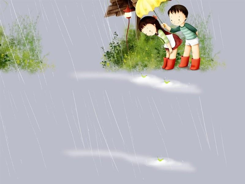 韩国手绘插画壁纸图片