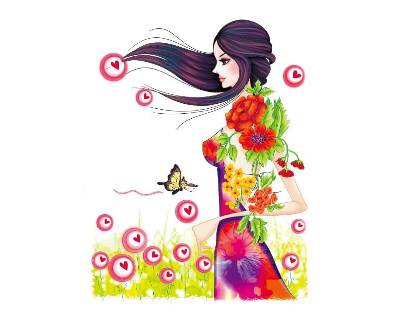 手绘时尚女性 1 15壁纸 绘制精品 手绘时尚女性