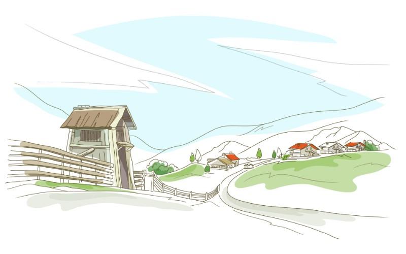 简笔城市风光 2 17壁纸 简笔城市风光壁纸 简笔城市风光图片 简笔城市风光素材 绘画壁纸 绘画图库 绘画图片素材桌面壁纸