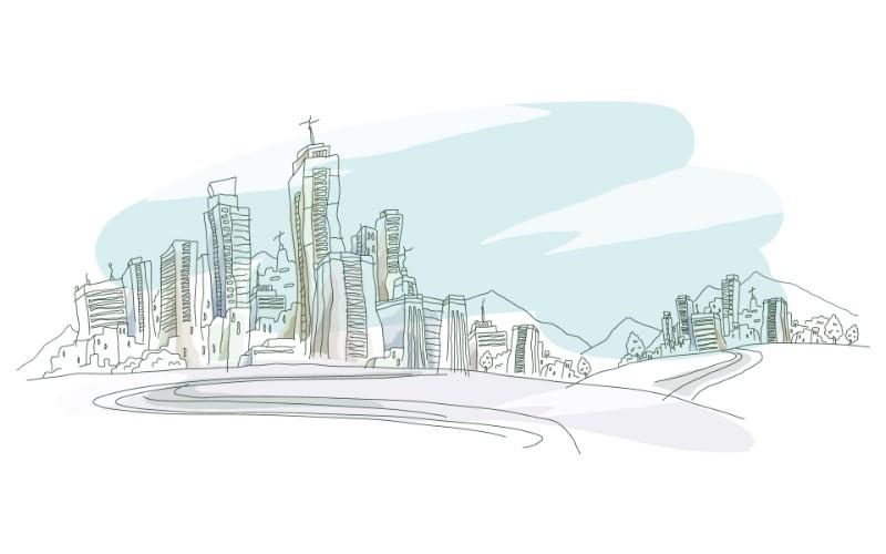 简笔城市风光 2 11壁纸 简笔城市风光壁纸 简笔城市风光图片 简笔城市风光素材 绘画壁纸 绘画图库 绘画图片素材桌面壁纸