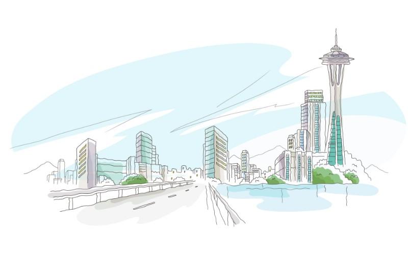 简笔城市风光 2 4壁纸 简笔城市风光壁纸 简笔城市风光图片 简笔城市风光素材 绘画壁纸 绘画图库 绘画图片素材桌面壁纸