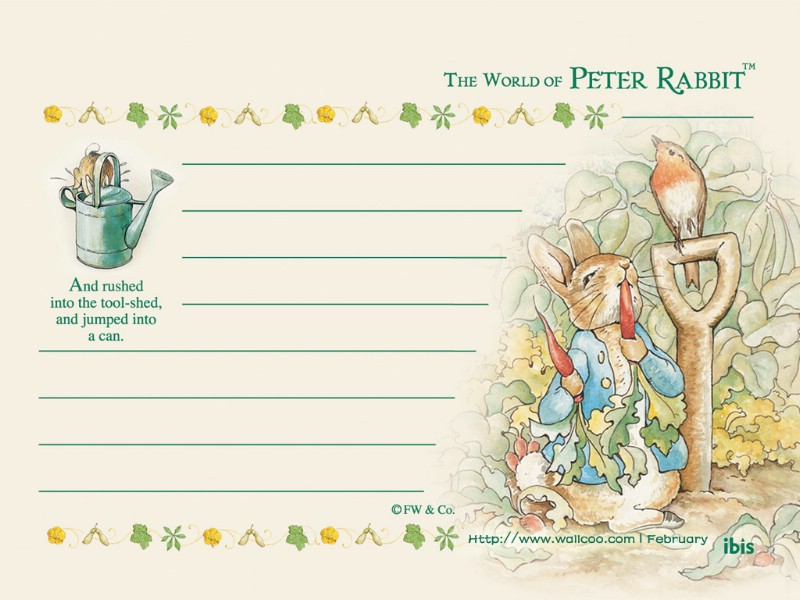 卡通信纸彼得兔的童话图片