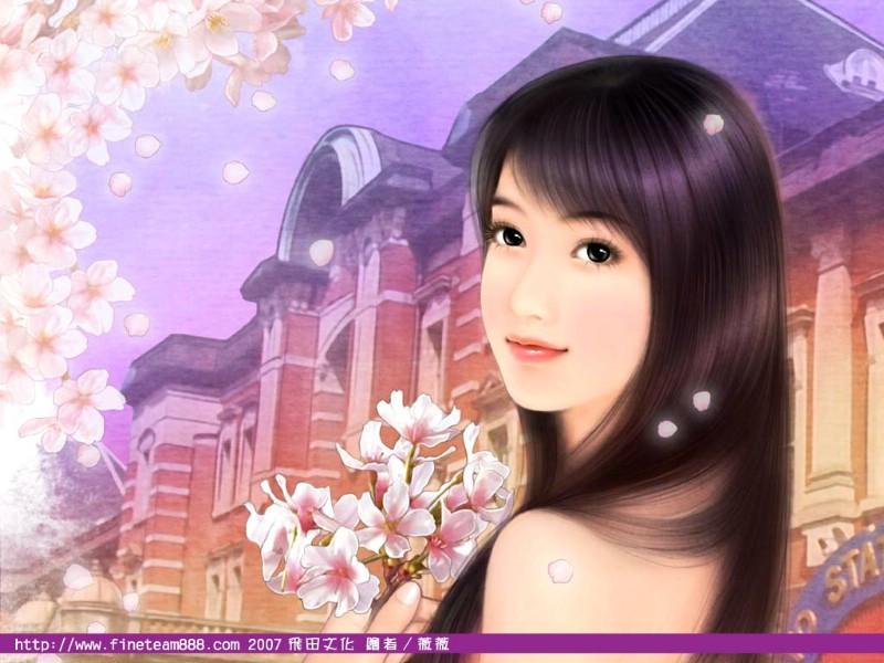 浪漫言情小说手绘美女壁纸壁纸24歌曲,浪漫言壁纸唱黄梅美女图片