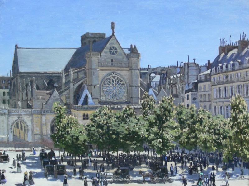 莫奈/莫奈作品莫奈油画 Claude Monet Painting Art 壁纸17
