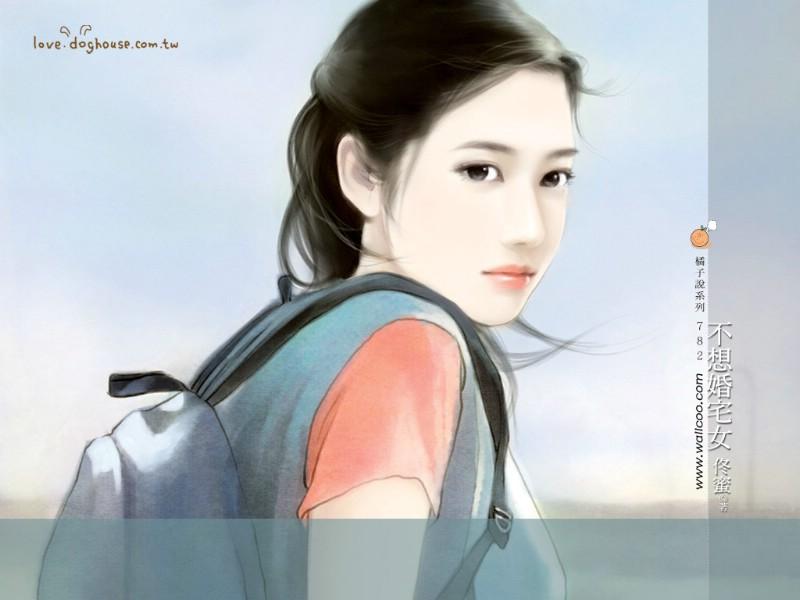 小说 封面 美女 插画 壁纸 手绘 美女 壁纸 爱情 小说