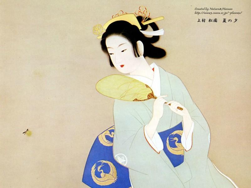日本仕女画图片,日本古代仕女画桌面