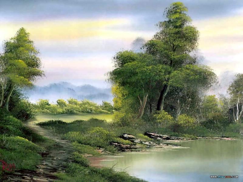 俄罗斯油画风景教程