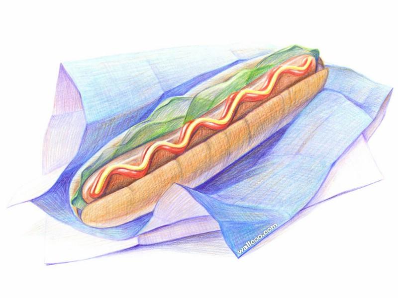 手绘美食壁纸 食物彩色铅笔画 一 彩色铅笔画图片 美食桌面 Color Pencil Drawings of Foods壁纸,手绘美食壁纸食物彩色铅笔画 一 绘画壁纸 绘画图片素材