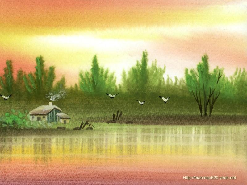 乡村民居简笔画图片_好看的小房子简笔画