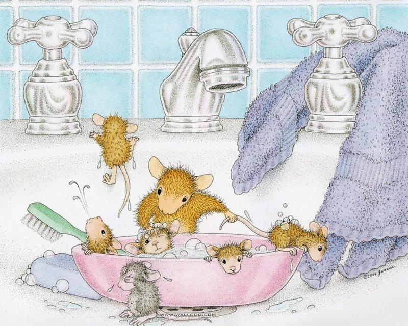 Bath Time 可爱小老鼠插画壁纸壁纸 鼠鼠一家温馨小老鼠插画壁纸壁纸 鼠鼠一家温馨小老鼠插画壁纸图片 鼠鼠一家温馨小老鼠插画壁纸素材 绘画壁纸 绘画图库 绘画图片素材桌面壁纸