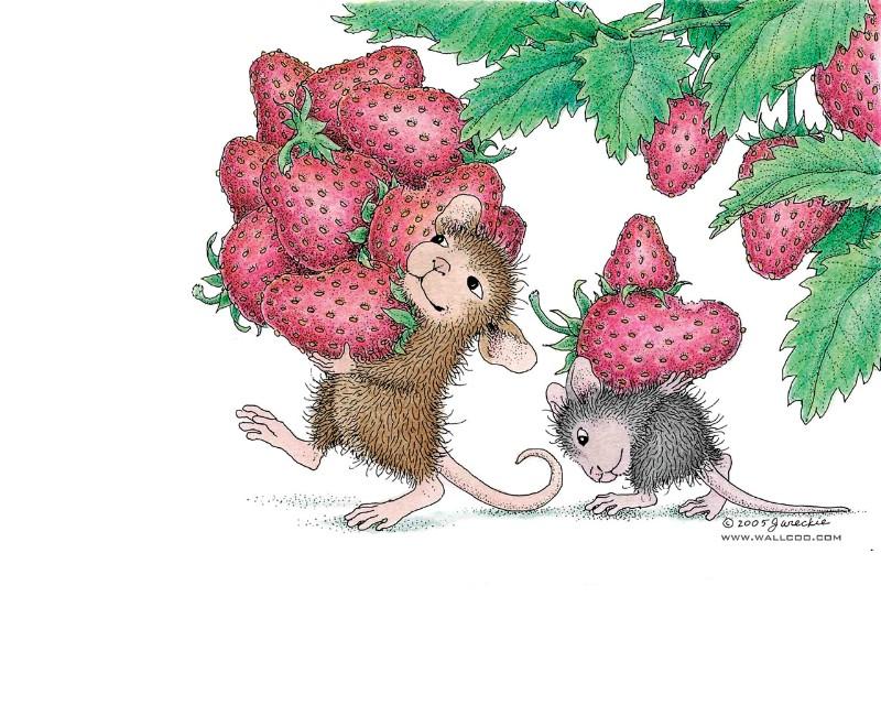 鼠鼠一家 温馨小老鼠插画壁纸壁纸图片 绘画壁纸 绘画图片素材