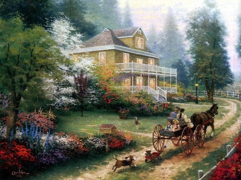 美国乡村风景桌面