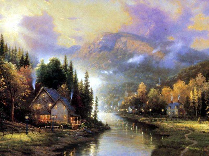 大师油画风景色