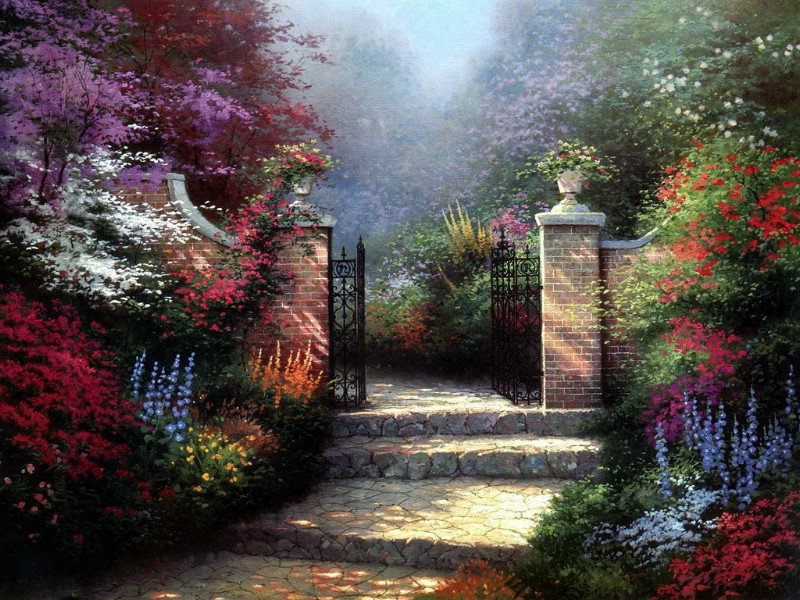 Floral Oil Paintings By M Gates