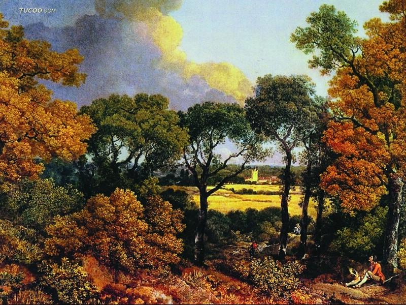 zhuai8.cc  西方著名风景油画高清大图作品集欣赏,古典油画风景 .