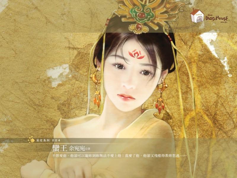 蛮王柔美古代美女绘画壁纸壁纸 言情小说封面