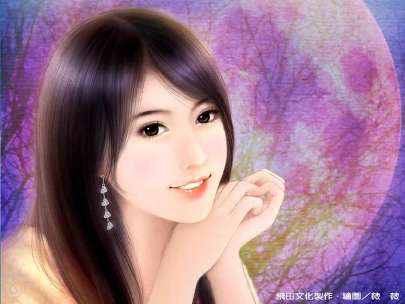 浪漫言情小说美女壁纸 爱情小说手绘美女图片