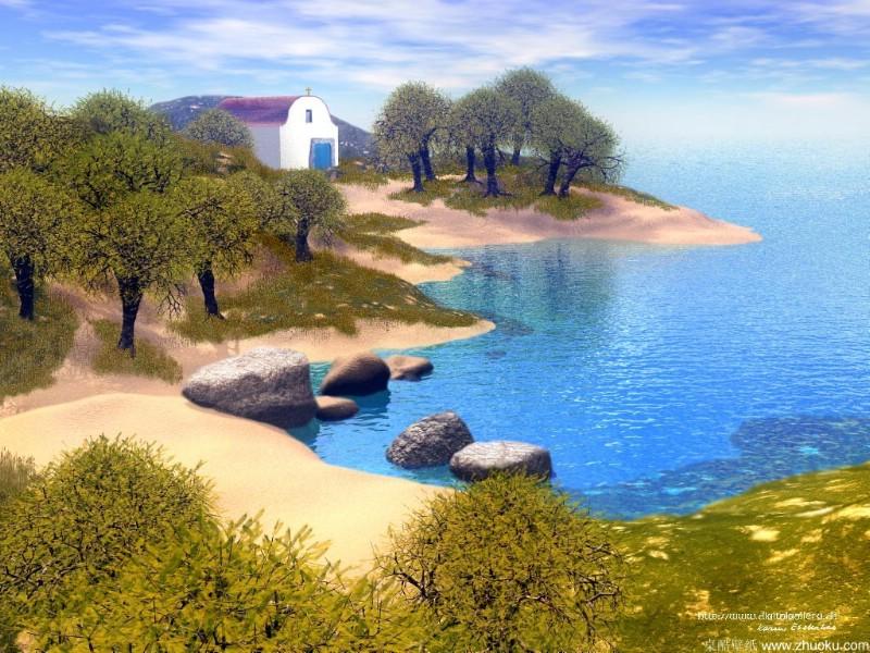 山水如画风景如梦 梦幻山水画壁纸
