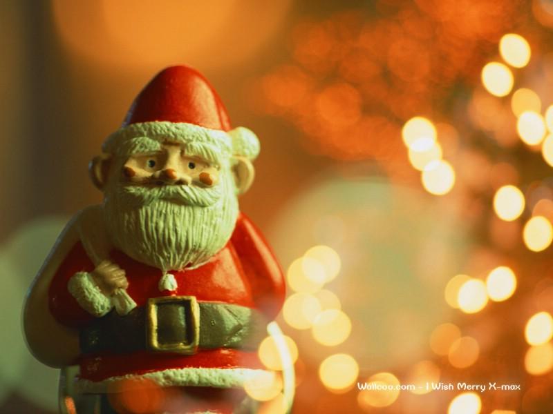 可爱圣诞老人蜡烛壁纸 lovely christmas decoration