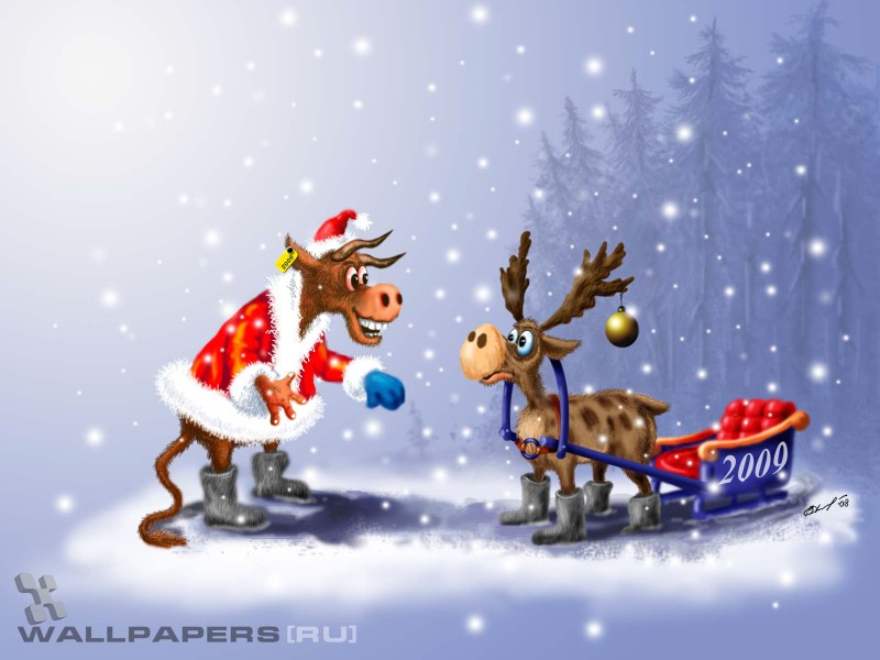 俄罗斯插画 趣味圣诞插画壁纸,俄罗斯插画 圣诞篇壁纸图片 ...