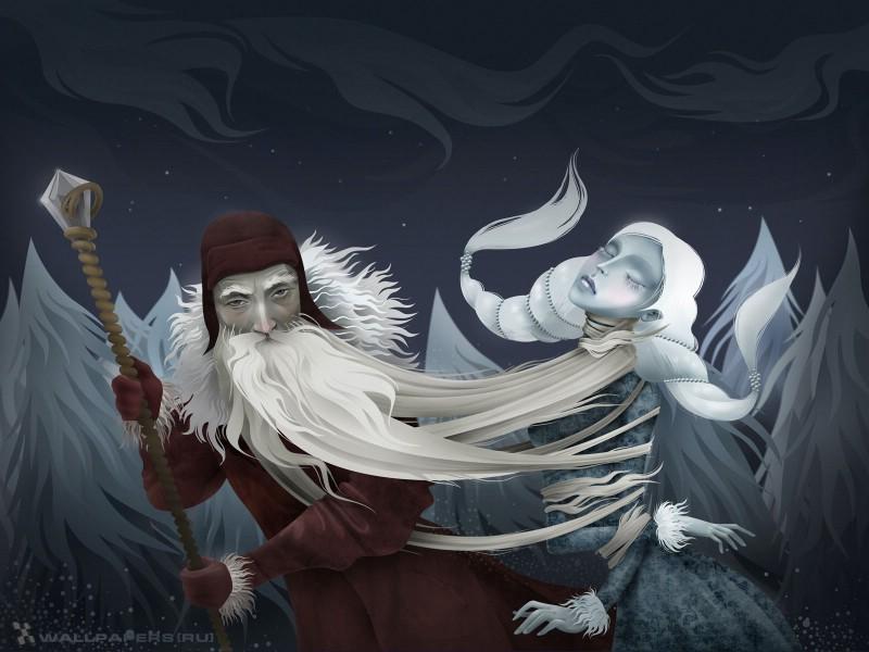 另类圣诞插画 - 怪调圣诞插画 、圣诞节插画卡通,俄罗斯插...