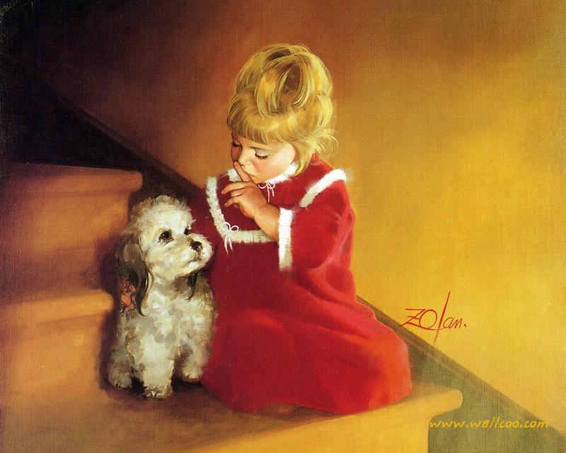 儿童节可爱小女孩图片壁纸