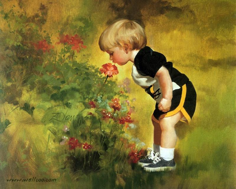 美国画家卓兰(Donald Zolan)的童贞世界(一) - 笑然 - xiaoran321456 的博客