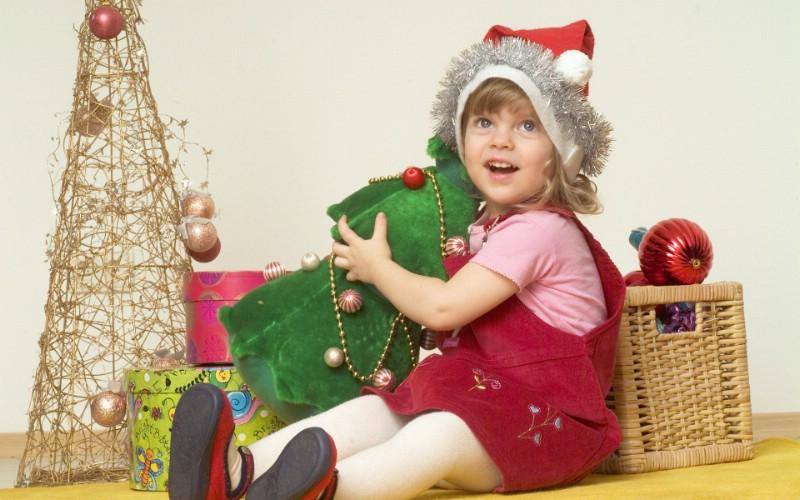可爱宝宝过圣诞 圣诞节小孩子图片壁纸