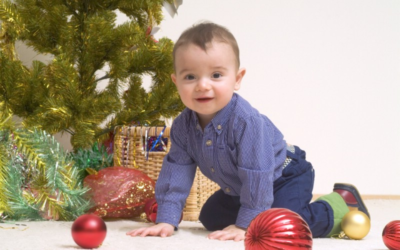 可爱宝宝过圣诞 圣诞节小孩子图片