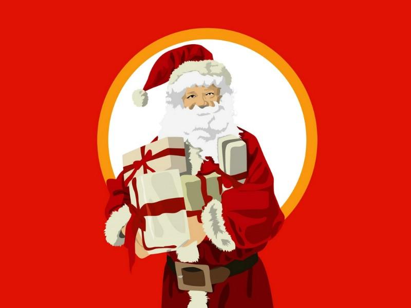 圣诞节 圣诞老人图片壁纸 christmas holiday santa claus pictures