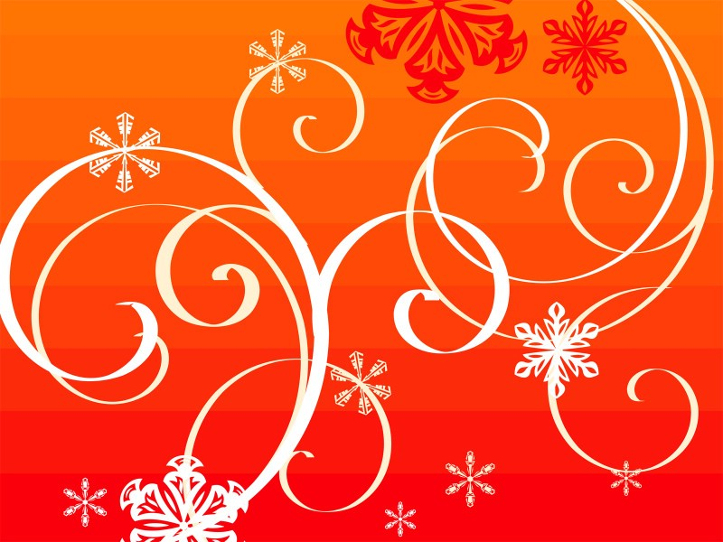圣诞节简约线条图案壁纸