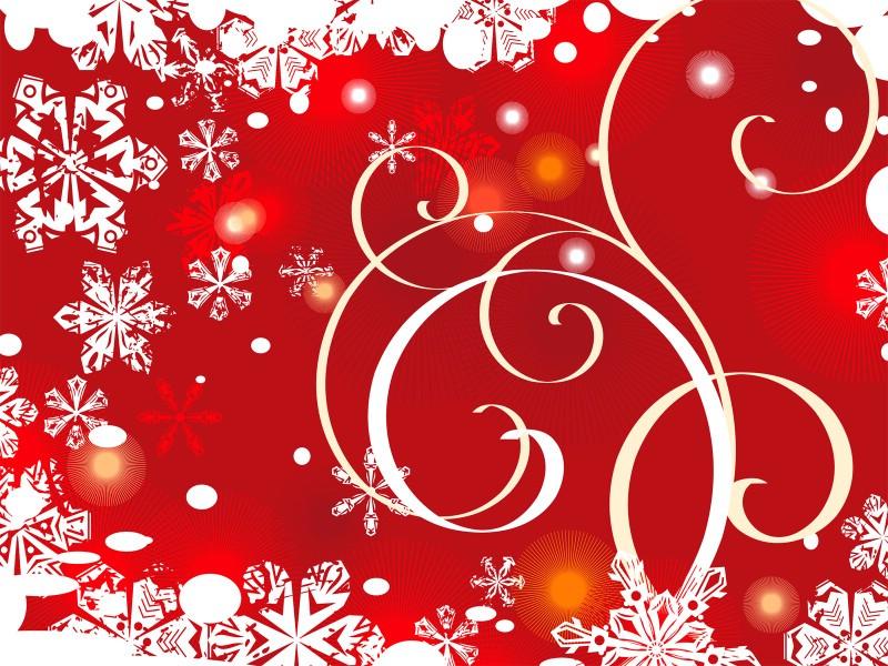 圣诞节简约矢量背景 圣诞雪